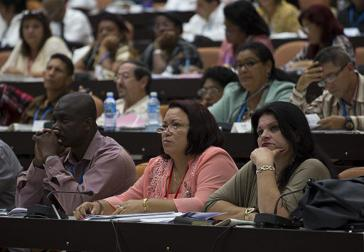 Abgeordnete bei der Sitzung des kubanischen Parlaments am 13. und 14. Juli in Havanna