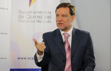 Der Leiter der Behörde zur Kontrolle der Marktmacht (SCPM) von Ecuador, Pedro Páez