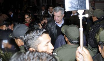 Der ehemalige Gouverneur des Bundeslandes Pando, Leopoldo Fernández, vor der Urteilsverkündung