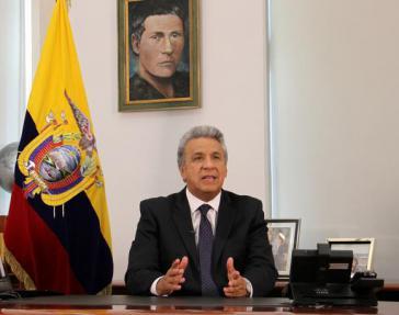 Der Präsident von Ecuador, Lenín Moreno, erläuterte die sieben Fragen für die Volksabstimmung