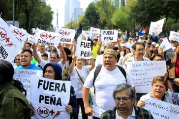 Die Proteste gegen die Benzinpreiserhöhungen in Mexiko reißen nicht ab. Immer lauter wird auch die Forderung nach Rücktritt von Präsident Enrique Peña Nieto