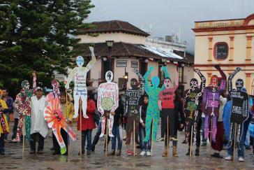 Protestaktion in Chiapas am 3. Jahrestag des Verschwindenlassens der 43 Lehramtsstudenten