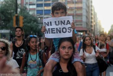 Protest gegen Frauenmorde in Uruguay