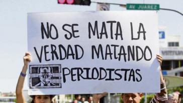 Protest gegen Morde an Journalisten in Mexiko - einem der gefährlichsten Länder für Medienschaffende weltweit
