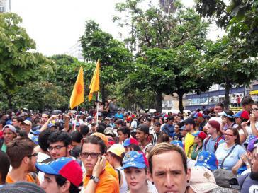 Ausgangspunkt war die Kundgebung des MUD in Chacaito