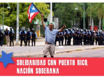 Der Protest richtet sich gegen die Abhängigekit der Insel von der USA. Solidaritätsaufruf von Clacso