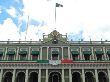 Regierungssitz in Xalapa, Veracruz. Das Gesundheitsministerium hat gefälschte Medikamente gekauft