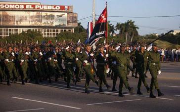 Armeeparade in Kuba: Das Militär spielt in dem sozialistischen Karibikstaat weiterhin eine wichtige Rolle