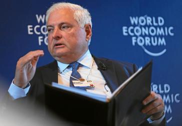 Mutmaßlicher Krimineller Martinelli, hier auf dem Weltwirtschaftsforum 2014 im schweizerischen Davos, damals noch als Präsident von Panama