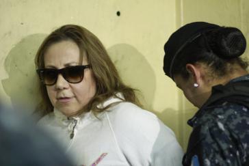 Die verhaftete Richterin Blanca Stalling im Gerichtsgebäude