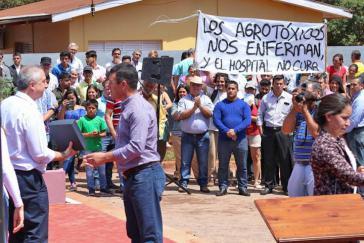 Einwohner von San Pedro in Argentinien protestieren gegen den Einsatz von Glyphosat
