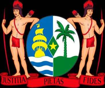 Das Wappen des kleinsten südamerikanischen Landes Suriname