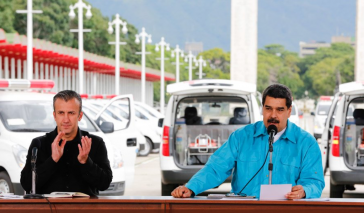 Der Präsident von Venezuela, Nicolás Maduro (rechts), hat seinem Vize Tareck El Aissami die Leitung der Kommission für die Umstrukturierung der Auslandsschulden übertragen