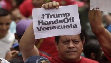 """Kritik an den Sanktionen der USA gegen Venezuela: """"Trump - Hände weg von Venezuela"""""""