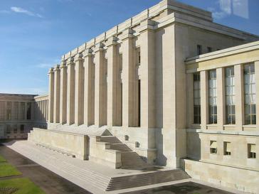 Hauptsitz des Menschenrechtsrates in Genf
