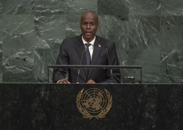 Haitis Präsident Jovenel Moïse vor der UN-Generalversammlung in New York