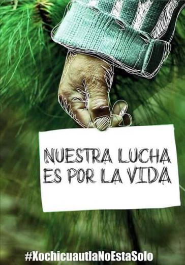 Unser Kampf ist für das Leben – Motiv der Protestbewegung in Mexiko