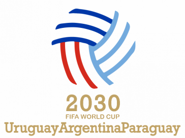 Gemeinsames Logo der WM-Kandidatur von Argentinien, Paraguay und Uruguay