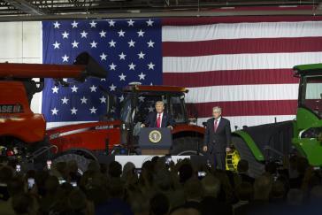 Die USA, Traktoren und Kuba: Donald Trump bei seiner Rede am Mittwoch
