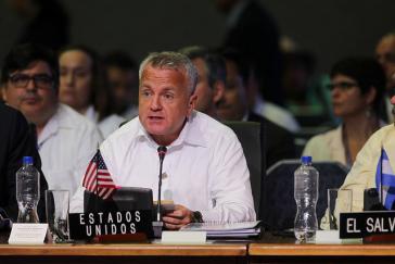 Vizeaußenminister der USA, John Sullivan, bei der OAS-Tagung in Washington