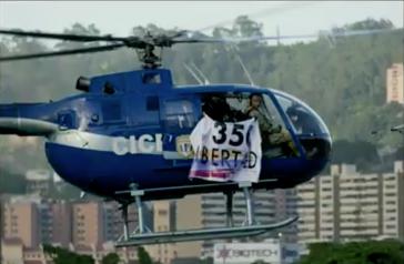 Helikopter, der offenbar von einem Oppositionellen in Venezuela entführt wurde
