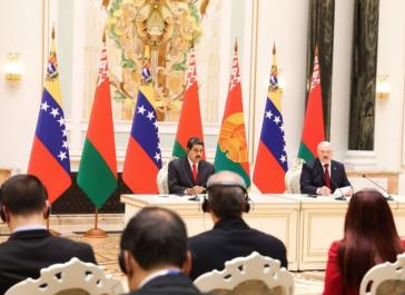 Präsidenten Nicolás Maduro, Venezuela, und Alexander Lukaschenko, Belarus