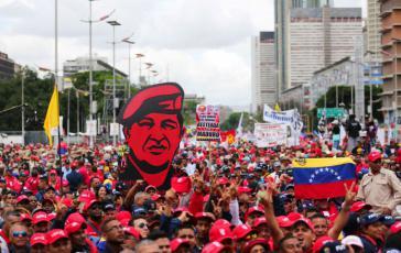 Der Chavismus verfügt immer noch über ein beeindruckendes Maß an Mobilisierungsfähigkeit, wie bei der Großkundgebung am 1. Mai 2017 in Caracas