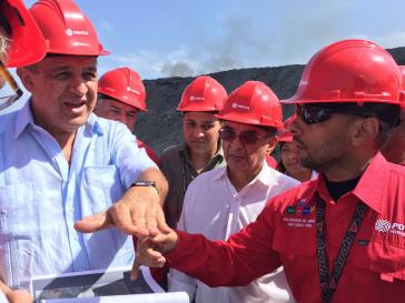 Der ehemalige Erdöl- und Energieminister von Venezuela, Eulogio del Pino (li.)