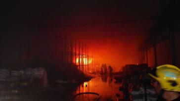 Demonstranten im Staat Anzoátegui, Venezuela, sollen für den Brand in einem Lagerhaus verantwortlich sein, bei dem 40 Tonnen Lebensmittel vernichtet wurden