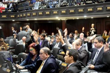 Abstimmung im Parlament von Venezuela
