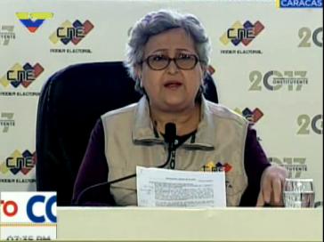 Präsidentin der Wahlbehörde CNE von Venezuela, Tibisay Lucena