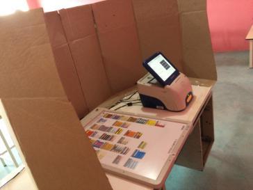 Wahlmaschine in Venezuela, hier bei der Parlamentswahl Ende 2015