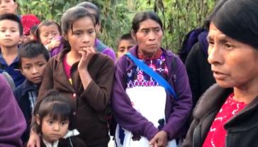 Vertriebene aus Chalchihuitán, Mexiko. Über 5.000 Personen aus neun Gemeinden mussten ihre Häuser verlassen