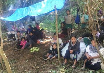 Unter den Vertriebenen sind viele Kinder, Neugeborene, Frauen und alte Menschen