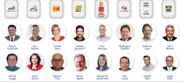 Die Kandidaten bei der Präsidentschaftswahl in Ecuador. Als Favorit gilt Lenín Moreno von Alianza País, dem aktuellen Regierungsbündnis