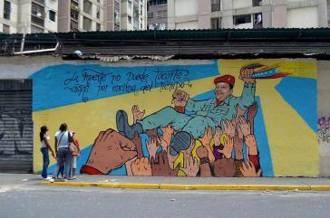 Wandbild in Venezuela nach dem Tod von Präsident Hugo Chávez