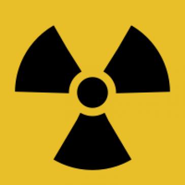 Internationales Symbol für Risiken der Atomkraft