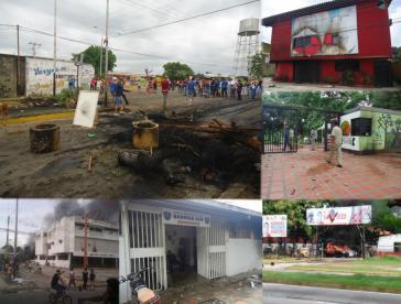 Welle der Gewalt bei Oppositionsprotesten Im Bundesstaat Barinas am 22. Mai 2017: rund 100 Geschäfte und mehr als 30 staatliche Einrichtungen wurden attackiert, zum Teil in Brand gesetzt und zerstört