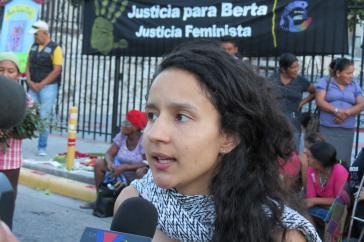 Bertha Zúniga Cáceres, Koordinatorin von Copinh und Tochter von Berta Cáceres