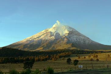 Nordseite des Popocatépetl