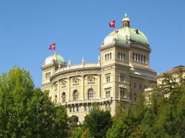 Im Bundeshaus in Bern, dem Sitz der Schweizer Regierung und des Parlaments, wird über die Sanktionen gegenüber Venezuela diskutiert