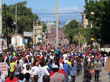 In Haiti wurde gegen die Korruption der Regierung Mitte der Woche heftig demonstriert