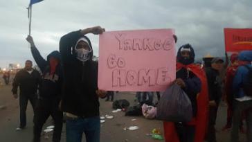 Protest vor dem US-Luftwaffenstützpunkt Soto Cano in Honduras am 14. Januar 2018