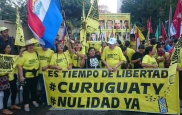Immer wieder hatten Bauern und Aktivisten in Paraguay gegen die jetzt annullierten Urteile gegen elf Kleinbauern protestiert