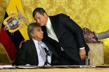 Bis vergangenes Jahr führten sie gemeinsam die Regierungsgeschäfte, nun sieht sich Rafael Correa heftigen Vorwürfen des heutigen Präsidenten Lenín Moreno ausgesetzt