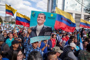 Anhänger von Ex-Präsident Rafael Correa in Quito, Ecuador
