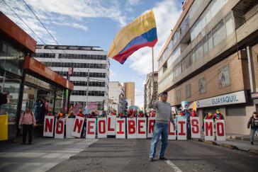 """""""Nein zum Neoliberalismus"""" - Protest in Quito, Ecuador"""
