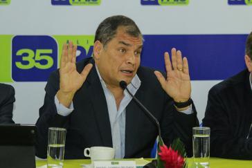 Rafael Correa ist mit 28 weiteren Abgeordneten aus dem von ihm selbst gegründeten Bündnis ausgetreten und will nun in Ecuador eine neue Partei gründen