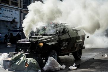 In Chile ist es zu starken Ausschreitungen im Rahmen von Demonstrationen durch Studenten gekommen