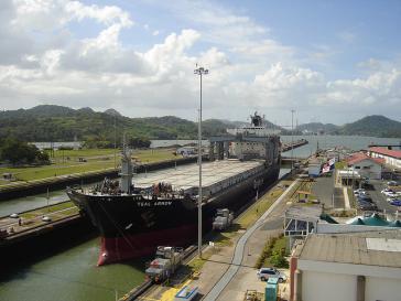 Erst seit dem Jahr 2000 hat Panama die Hoheitsrechte für den Kanal, der nun auch immer mehr von chinesischen Schiffen genutzt wird
